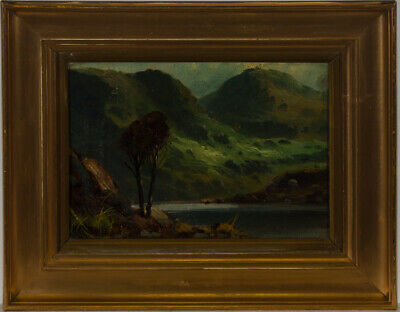 Framed Early 20th Century Oil - Highland Loch