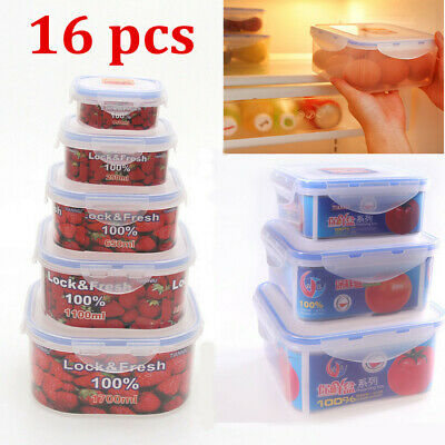 Food Storage Container Set with Lids Freezer Microwave BPA Free Plastic Box