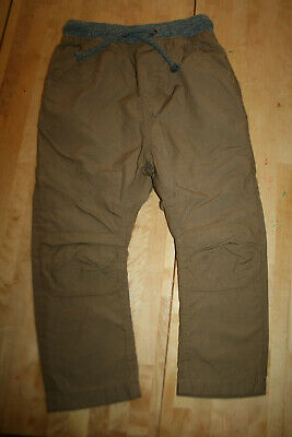 Boys Khaki Beige Lined Cargo Trousers, 5 Yrs from Next, NEW