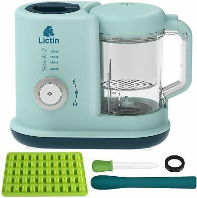 Lictin Baby Food Blender, Steamer, Processor 4 in 1 Multifunctional Toddler food