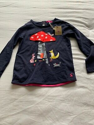 joules girls top age 6 Mushroom And Animals