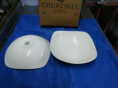 12X Churchill White X Squared Bowl SQ9 8INCH 20.7 CM
