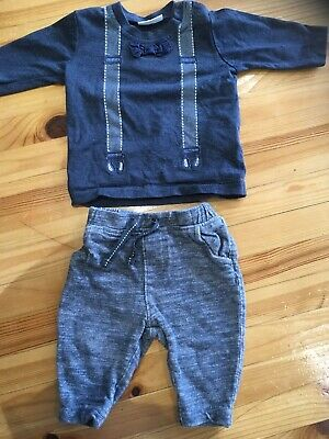 Baby Boy Next Outfit Size Up To 3 Months Braces & Dickie Bow