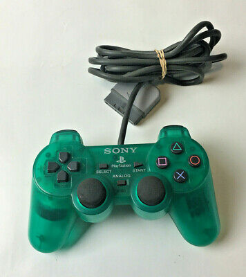Official Sony Playstation 1 PS1 Emerald Green Controller Control Pad Gamepad