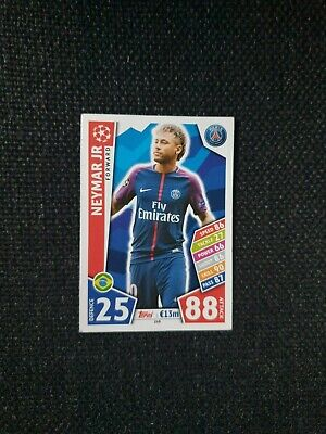 Neymar Jr, Paris Saint-Germain, 2017/18 Champions League Card, Match Attax.