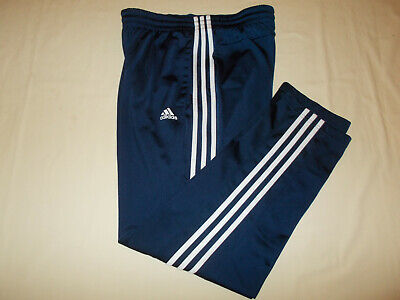 Adidas Navy Blue With White Stripes Athletic Pants Mens Xl Excellent Conditon