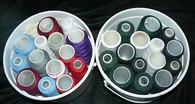 Lot of 30 Spools Cones Overlock Serger Sewing Thread Various Colors