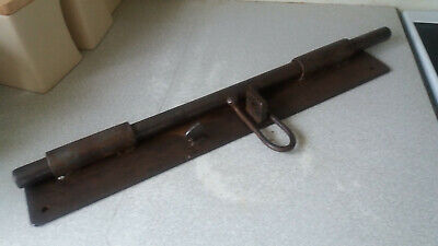 Massive Heavy Cast Iron Gothic Door Bolt / Latch - Bolt Is 24 Inch Long