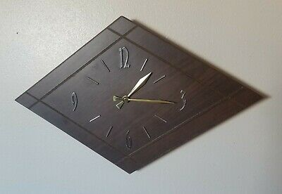 Vintage German Junghans Wall Clock (Working) 70's Era Wood