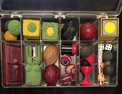 Vintage Magic Tricks - Misc Container - Shells, Balls , Vase , Dice & More
