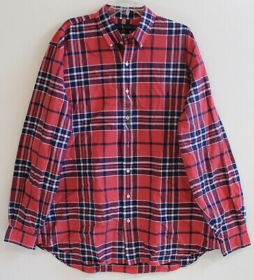 Polo Ralph Lauren Big and Tall Mens Red Blue Plaid Button-Front Shirt NWT 2XLT