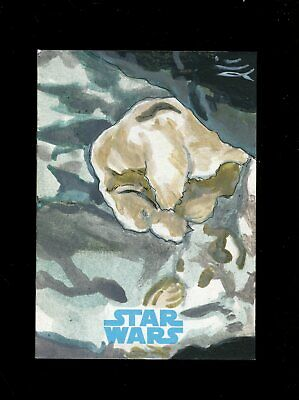 Star Wars JTTFA Journey to the Force Awakens Sketch Card WAMPA LEE LIGHTFOOT 1/1