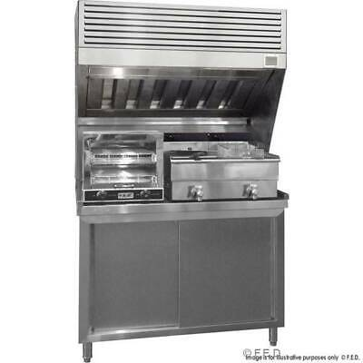 Commercial bench top filtered range hood - stainless stell