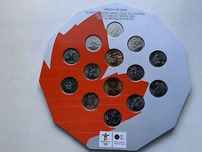 2010 Vancouver Olympics 14-coin Royal Canadian Mint set