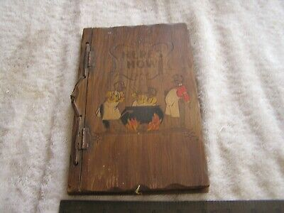 Vintage Here's How Mixed Drinks Wood Cover  W.C. Whitfield 1941