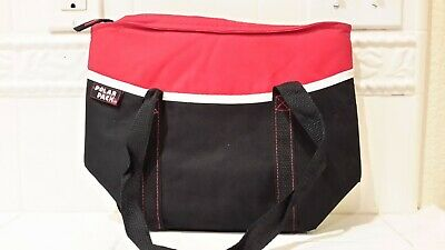POLAR PACK™ Insulated/Quilted Lightweight Cooler/Lunch Bag Tote Red/Black