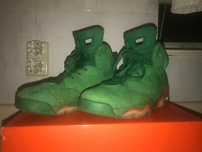 AIR JORDAN 6 RETRO GREEN GATORADE SZ 9.5M W/ OG BOX (few stains and scratches)