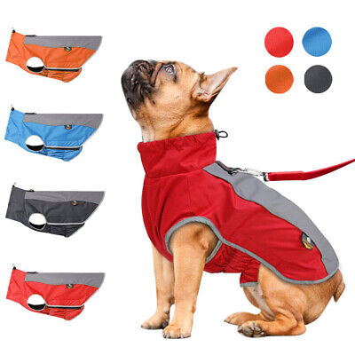 XL-3XL Dog Winter Coat Waterproof Padded Jacket Reflective Clothes Warm Fleece X