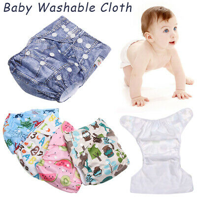 Infant Washable Adjustable Soft Baby Diaper Cloth Nappies Reusable Pocket