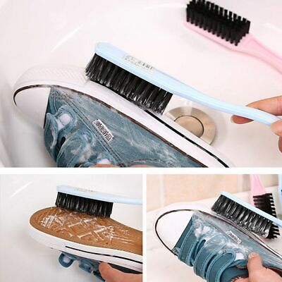 Soft Long Handled Shoes Brush Dust Scrubber Boot Cleaner Cleaning Tool