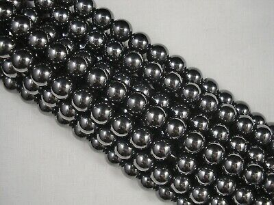 Magnetic Hematite 8mm Round Beads 40cm Strand Jewellery Necklace FREE POSTAGE