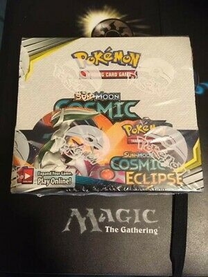 Pokemon Tcg Sun & Moon Cosmic Eclipse Booster Box - Factory Sealed!