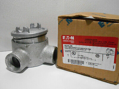 """1 NEW CROUSE-HINDS GUAC36 ALUMINUM OUTLET BOX W// COVER 1/"""" NIB//NNB **MAKE OFFER**"""