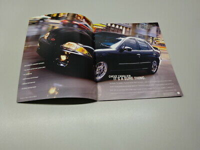 LARGER 2002 CHEVY CAVALIER BROCHURE, in ENGLISH. JULY 2001.