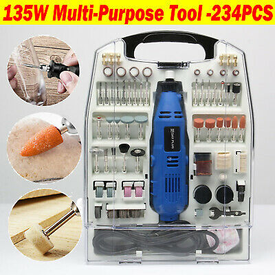 Rotary Multi Tool Kit 135W With 234Pc Accessory Set & Storage Case, Power Drill