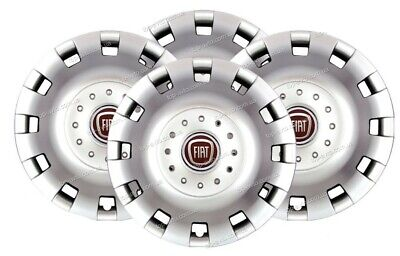 """Set X 4 Wheel Trims Hub Caps Deep Dish Domed To Fit Fiat Ducato 16"""" Silver 414"""