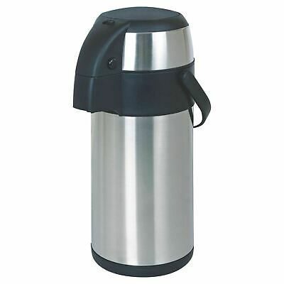 5L Pump Action Stainless Vacuum Steel Airpot Thermos Flask Hot & Cold Tea Coffee