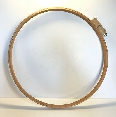 EXTRA LARGE WOODEN HOOP For Embroidery, Needlecraft, Sewing & Quilting Size 21""