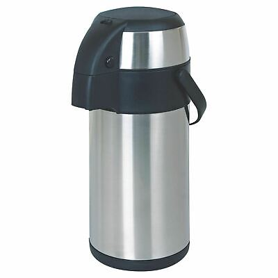 5L Litre Stainless Steel Pump Action Airpot Hot & Cold Tea Coffee Flask