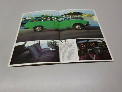 1977 RENAULT 12 BROCHURE / BOOKLET, in FRENCH. SALOON & ESTATE.