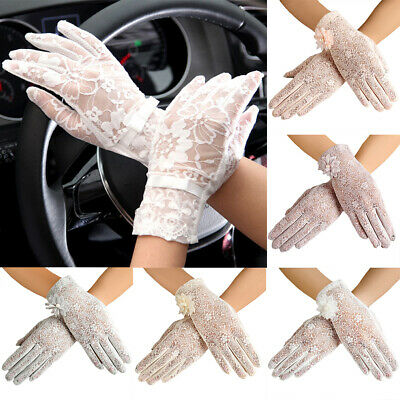 Am_ Eg_ Women Lady Summer Anti Uv Sun Protection Driving Touch Screen Lace Glove