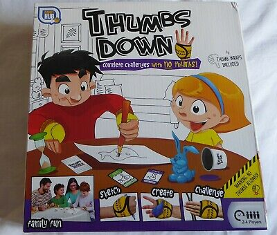 Thumbs Down: Complete Challenge With No Thumbs! Family Fun Kids Board Game BNIB