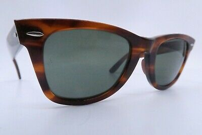 Vintage B&L Ray Ban Wayfarer sunglasses etched BL lens 50-24 made in the USA
