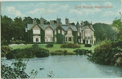 Old Postcard Buildings Scenery Sandringham York Cottage Norfolk Ny4