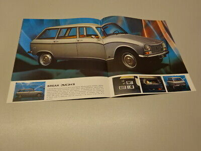 1975 PEUGEOT 304 BROCHURE / BOOKLET, in FRENCH. 7-74.