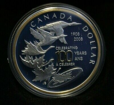 2008 Special Edition Silver Dollar 100th anniversary Royal Canadian Mint