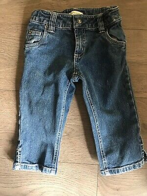 Girls Cropped Jeans Age 6 Adjustable Waist