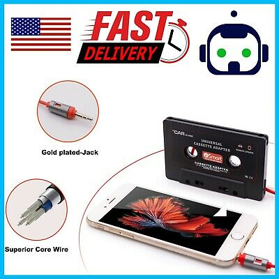 Audio Car Cassette Tape Adapter Converter 3.5 MM For iPhone Ipod MP3 AUX CD DT