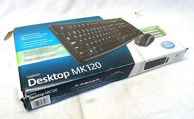 New Logitech MK120 Wired Keyboard | Plug-and-Play USB Connections | 104 Keys