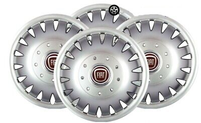 """Set X 4 Wheel Trims Hub Caps Deep Dish Domed To Fit Fiat Ducato 16"""" Silver 410"""