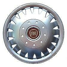 """Set X 4 Wheel Trims Hub Caps Deep Dish Domed To Fit Fiat Ducato 15"""" Silver 320"""