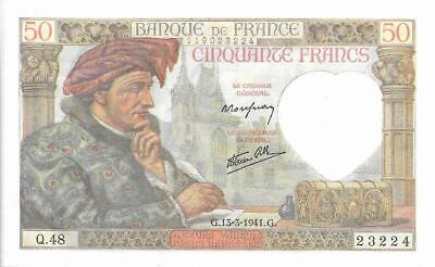 France 1941 50 Francs Banknote Uncirculated P93