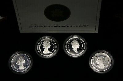 2004 50 Cents Sterling Silver Coin Set Queen Elizabeth II Effigy Set