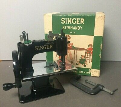 Vintage Singer Model #20 Sewhandy Child Sewing Machine Toy in Original Box