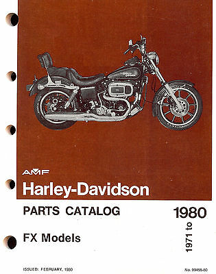 1971 to 1980 HARLEY-DAVIDSON FX PARTS CATALOG MANUAL-NEW SEALED-FXE-FXS-FXEF-FXB