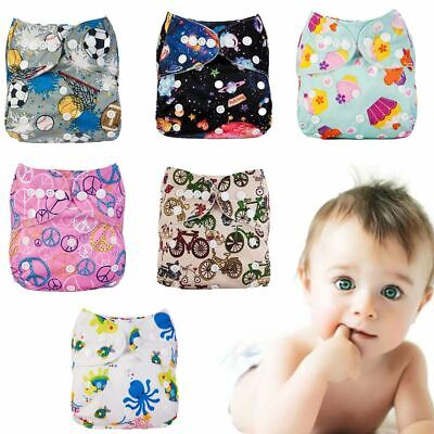 Infant Soft Breathable Adjustable Baby Diaper Cloth Nappies Pocket Reusable